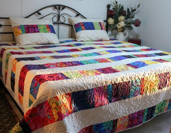 """King  Queen Bed Quilt Ensemble DREAMCATCHER 96"""" x 100"""""""