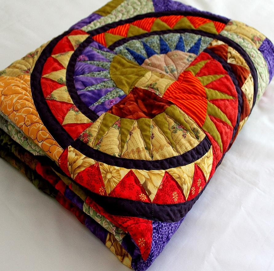 Beauty By Aurthi New York New York: NEW YORK BEAUTY Style Quilt EASTERN PASSAGE In Bold Color 59