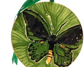 Ornament Cairns Birdwing Butterfly Ceramic with Gold Trim Made to Order