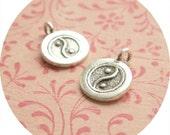 Thai silver - yin yang charm (2)