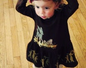 I Love Your Deerly Chocolate/Aqua Dress Pick your size 3 months to 6 years