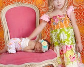 Citrus Summer Tiered Flutter Dress Pick Your Size 12 months to 6 years