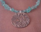 Key West Necklace - Silver and Apatite