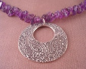 Purple and Paisley Necklace