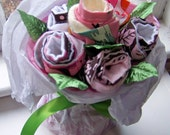 Burp Cloth Bouquet (TM) ...a great baby gift or baby shower centerpiece.