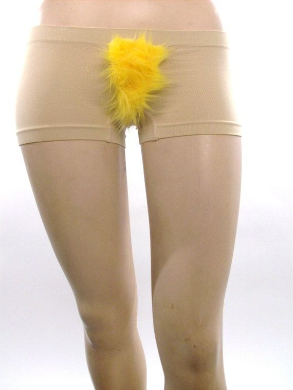 Yellow Pubic Hair Panties or Merkin in Size Small/Medium