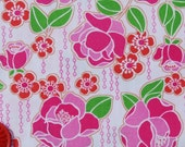 SALE Folk Life by Anthology Fabrics - Roses in Pink-Green 1 yard listing
