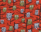 SALE Half Yard o Michale Miller - Hoot by Tammis Keefe in Red