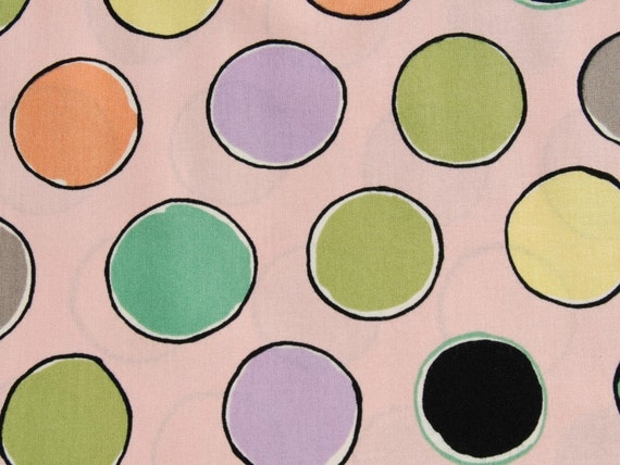 CLEARANCE 1 Yard of Timeless Treasures - Big Dots in pink by Luli Sanchez