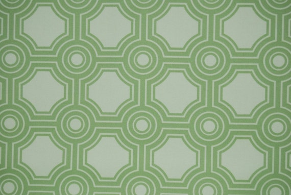 RESERVED - 2 Yards of Joel Dewberry - Ginseng Collection - Home Decor - Square Tiles in Celery