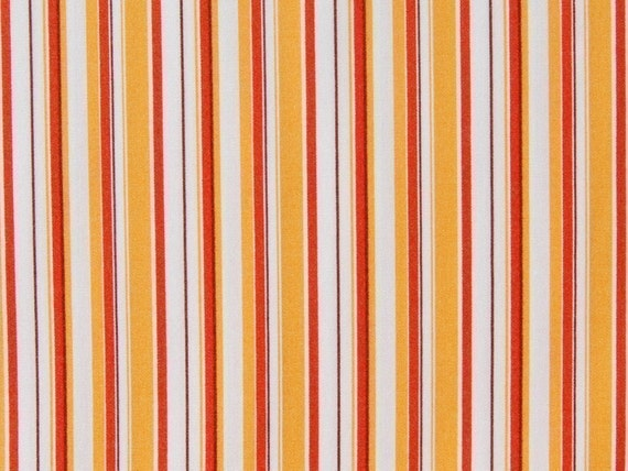 1 Fat Quarter -  of  OOP  Lightning Bugs and Other Mysteries by Heather Ross - Stripe in Orange