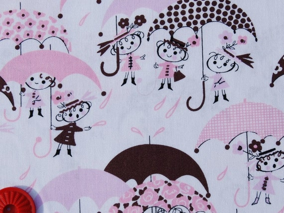 SALE Alexander Henry - In the Kitchen - April Showers in pink - 1 yard listing