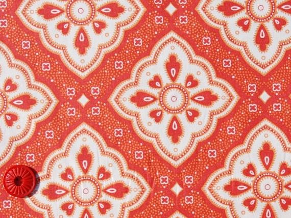 SALE Half Yard of Charisma by Andover Fabrics - Diamond Medallion in Orange - Last one
