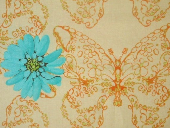 SALE - 1 yard of  Tina Givens - Treetop Fancy - Huckleberry in Ivory