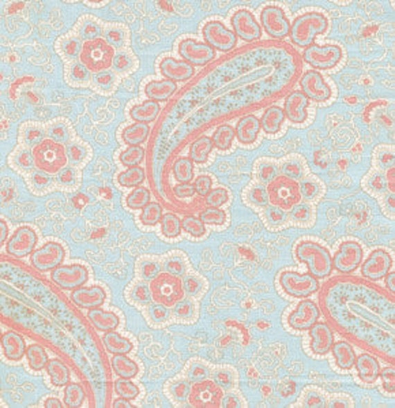 """END OF BOLT - 25"""" of Annette Tattum - Fall House 2009 - Paisley in soft sea"""