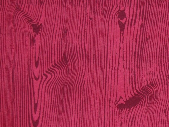 SALE 1 Yard of Joel Dewberry - Ginseng Collection - Home Decor - Wood Grain in Mulberry
