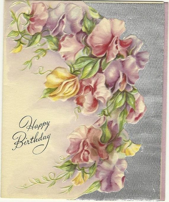 Unused vintage greeting card Birthday