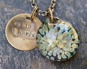 Glass Flower Pendant Boro Borosilicate Lampwork Necklace - So Hip It Hurts