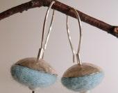 Blue Saucer Earrings RESERVED for Eunice
