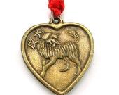 Chinese zodiac dog heart charm