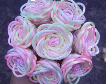 Pastel rainbow rose bouquet - can be made with custom colors