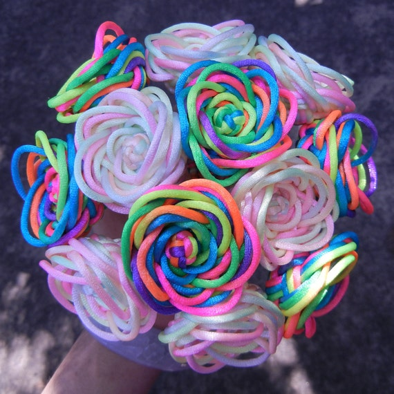 Mixed rainbow rose bouquet - can be made with custom colors
