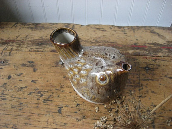 Vintage Pottery Bird Milk Pitcher