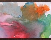 Beach Clouds ACEO Original Art Watercolor -- fundraiser for my preschooler