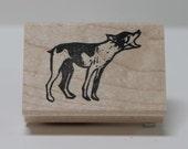 Rat Terrier bark rubber stamp