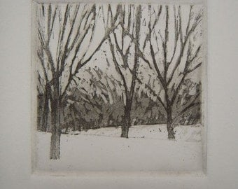 Central Park - Original Etching