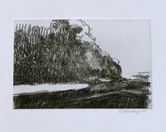 Gap Fire original hand pulled etching