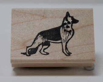 German Shepherd rubber stamp