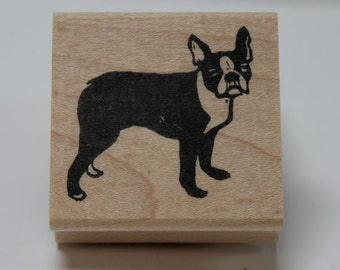 Boston Terrier rubber stamp