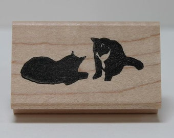 Kitty Pals rubber stamp
