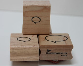 Speech Bubble X-SMALL rubber stamp