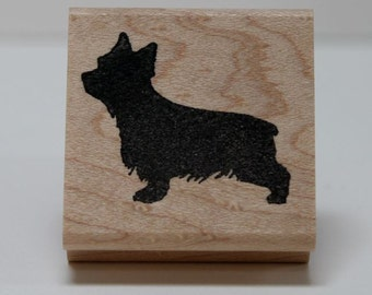 Yorkshire Terrier Silhouette rubber stamp