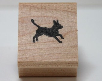 Whee... wee dog stamp rubber stamp