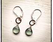 Moss Aquamarine Silver Earrings