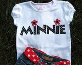 Minnie Tee.... Mouse Vacation Shirt... Custom Made in Sizes 2T through Girls Size 8.