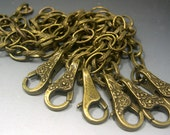 Antiqued Brass Chains 6 Bracelets & Clasps add a charm you get 6 bracelet chains
