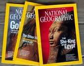 RESERVED for Emily:  National Geographic Magazines for Collage and Mixed Media