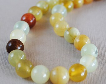 Rainbow Jade Semi Precious Gemstone Strand, 10mm Round New Jade