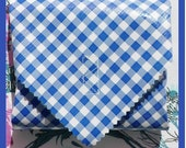 sandwich wrap & cotton napkin liner - BLUE GINGHAM - place mat - eco - reusable