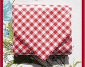 sandwich wrap - cloth napkin - eco - reusable - red gingham