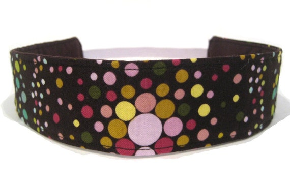 Headband - Brown Color Explosion Fabric
