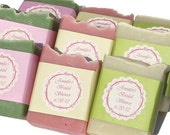100 Custom Wedding Favor or Party Favor Soaps - Customized - Bridal Shower - Baby Shower - Corporate Gifts - Custom Label - Personalized