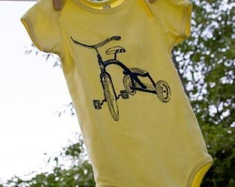 I Roll on 12's Tricycle Onesie Organic Cotton