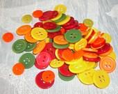 Colorful Button Lot - Destash