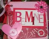 Altered Coaster Valentine Minibook
