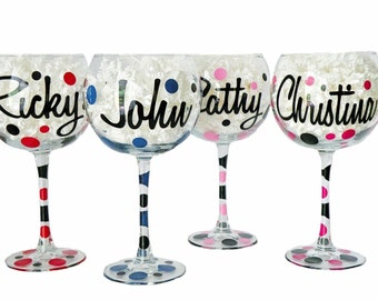 custom PERSONALIZED jumbo wine glass - great for weddings and bachelorette parties